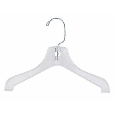 12in. Plastic Super Heavy Weight Coat Hanger, Clear