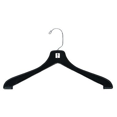 Heavy Weight Coat Hanger, Short Hook, Black