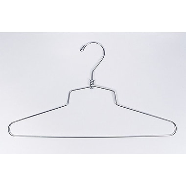 12in. Metal Shirt/Dress Hanger, Chrome
