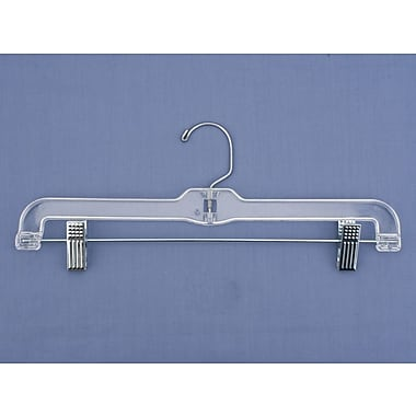 K-Resin Jumbo Weight Skirt/Slack Hanger, Clear, 14