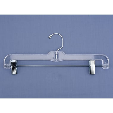 Plastic Jumbo Weight Skirt/Slack Hanger With Metal Clips, Clear