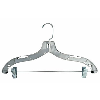Plastic Heavy Weight Suit Hanger, Gold Hook, Silver