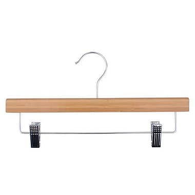Bamboo Pant Hanger, Chrome Hook, 14in.