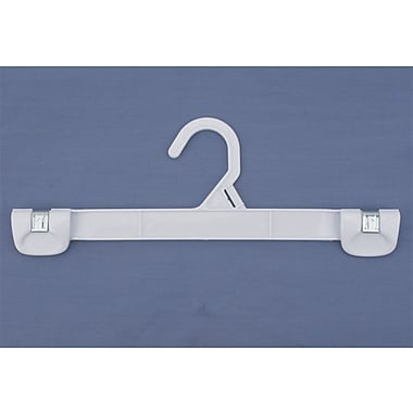 Plastic Snap Grip Plastic Hook Skirt/Slack Hanger, White, 12