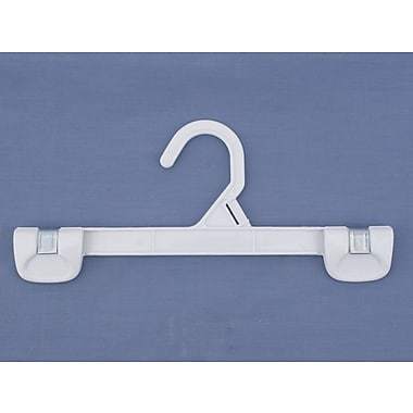 Plastic Snap Grip Plastic Hook Skirt/Slack Hanger, White, 10in.