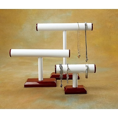 Rosewood Leatherette Medium T-Bar Display, White, 12in. x 7in.
