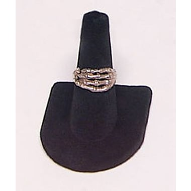 Velvet Single Finger Ring Display, Black