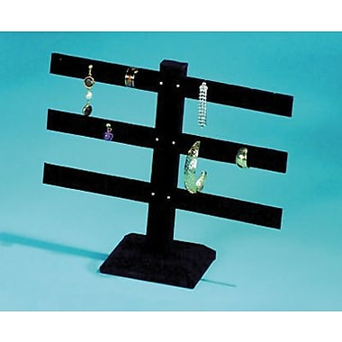 Velvet 3-Bar Earring Display, Black