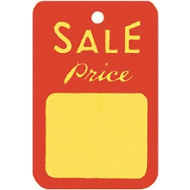 Unstrung Sale Tag, Red/Yellow, 1 1/4in. x 1 7/8in.