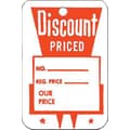 Large Strung Discount Priced Tag, Red/White, 1 3/4in. x 2 7/8in.
