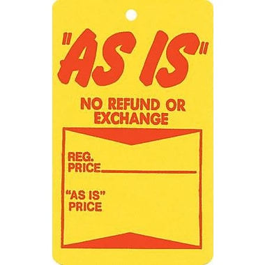 Strung As Is Tag, Red/Yellow, 1 3/4in. x 2 7/8in.