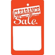 "Small Strung Clearance Tag, Red/White, 1 3/4"" x 2 7/8"""