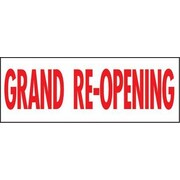 "8' x 3' Outdoor Banner ""GRAND RE-OPENING"", Red/White"