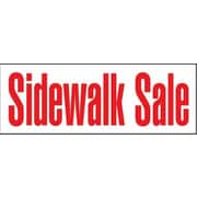 "8' x 3' Outdoor Banner ""SIDEWALK SALE"", Red/White"