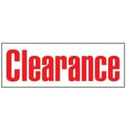 "8' x 3' Outdoor Banner ""CLEARANCE"", Red/White"