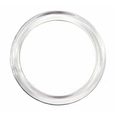 3in. Plastic Large Scarf Ring, Clear