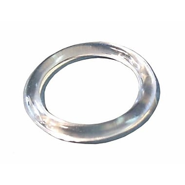 Plastic Small Scarf Ring, Clear, 100/Pack, 1 1/4in.