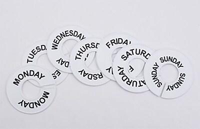 3 1 2 Monday Saturday Round Size Divider White