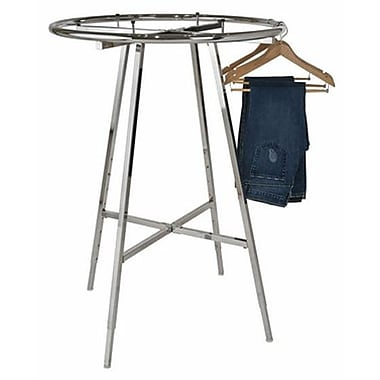 Circular Garment Racks, Chrome