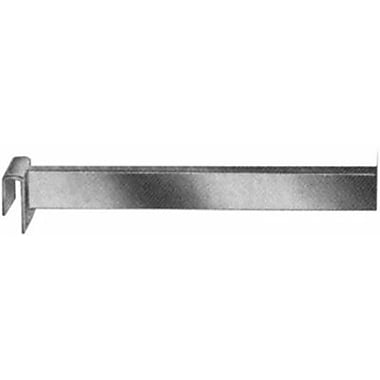 Rectangular Tubing Straight Arm Faceout, Chrome, 6in.