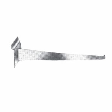 10in. Slatwall Shelf Bracket, Chrome