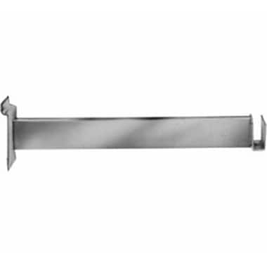 Rectangular Tubing Hangrail Bracket, Chrome, 12in.