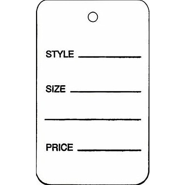 Large Strung All Purpose Tag, White, 1 3/4