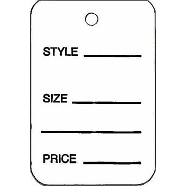 Small Unstrung All Purpose Tag, White, 1 1/4