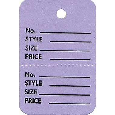 Strung Small Vertical Coupon Tag, Lavender, 1 3/8in. x 2 3/4in.