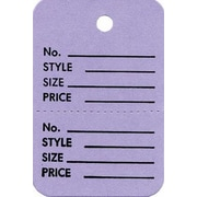 """Strung Small Vertical Coupon Tag, Lavender, 1 3/8"""" x 2 3/4"""""""