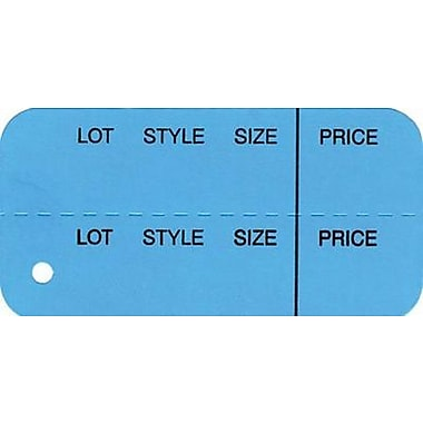 Strung Horizontal Coupon Tag, Dark Blue, 1 3/8in. x 2 3/4in.