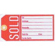 "Sold Tag, Red/White, 2 5/8"" x 4 1/4"""