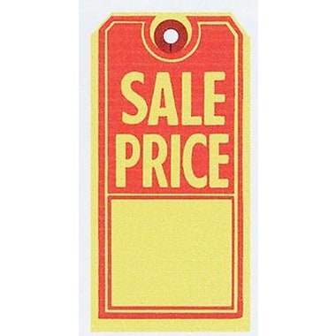 Sale Tag, Red/Yellow, 2 5/8