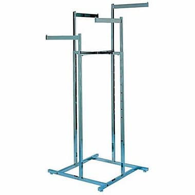 4 Way Square Tubing Garment Rack With 4 - 16