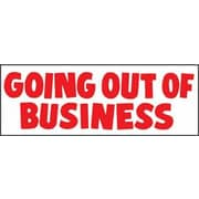 "8' x 3' Outdoor Banner ""GOING OUT OF BUSINESS"", Red/White"