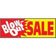 8' x 3' Outdoor Banner BLOWOUT SALE, Red/Yellow