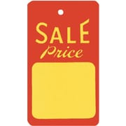 "Large Unstrung Sale Tag, Red/Yellow, 1 3/4"" x 2 7/8"""