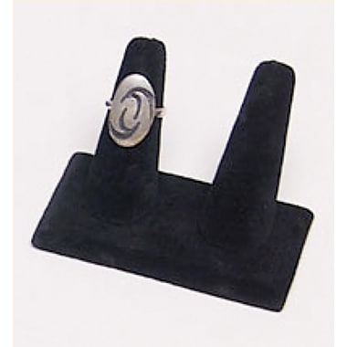 Velvet Double Ring Display, Black