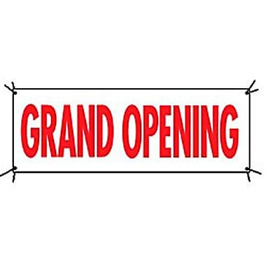 3' x 8' Outdoor Banner in.GRAND OPENINGin., Red on White