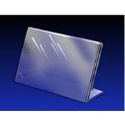 5 1/2 x 7 Acrylic Angled Sign Holder, Crystal Clear