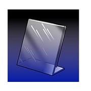 5 1/2 x 3 1/2 Acrylic Angled Sign Holder, Crystal Clear