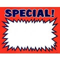 7in. x 11in. Econo Card in.SPECIALin., White/Blue on Orange