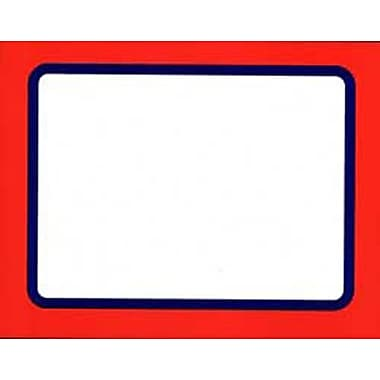 11in. x 7in. Econo Card in.BLANKin., White/Red
