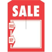 3 1/4 x 4 3/4 Mini Slotted Tags SALE (Reg/Now), Red on White