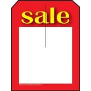 3 1/4 x 4 3/4 Mini Slotted Tags Sale, Red/Yellow on White