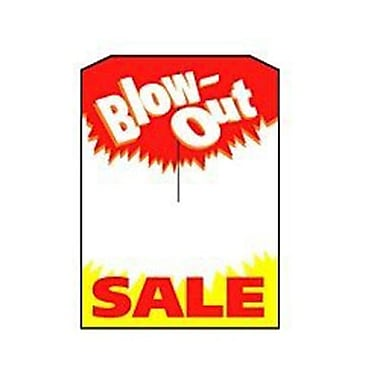 3 1/4in. x 4 3/4in. Mini Slotted Tags in.Blow-Out SALEin., Red/Yellow on White