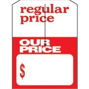3 1/4 x 4 3/4 Mini Slotted Tags Sale (Reg/Our Price), Red on White
