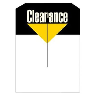 3 1/4in. x 4 3/4in. Mini Slotted Tags in.Clearancein., Black/Yellow on White
