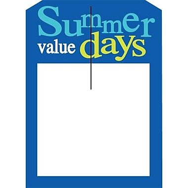 5in. x 7in. Slotted Tags in.SUMMER VALUE DAYSin., Yellow/Blue on White