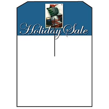5in. x 7in. Slotted Tags in.Holiday Salein., Blue on White